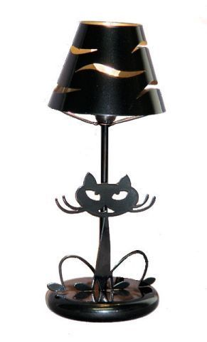 lampe chat grise